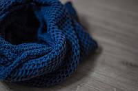 Хомут женский вязаный джинс