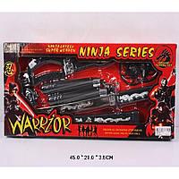 """Набор оружия """"Ninja"""" RZ1157 меч, сюрикены, нунчаки, в кор. 45*21*3,5см"""