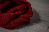 Хомут вязаный красный