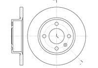 Диск тормозной SKODA FAVORIT, FELICIA, VW CADDY II, передн. (пр-во REMSA) 6425.00