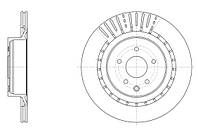 Диск тормозной INFINITI FX (01/03-) задн. (пр-во REMSA) 61509.10