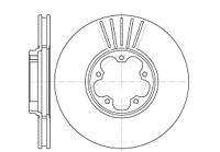 Диск тормозной FORD TRANSIT передн., вент. (пр-во REMSA) 6609.10