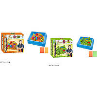 "Игра ""Живой песок"" WLN-67/682 вида, мерцающий, в наборе пасочки , в коробке 32*25*7см"