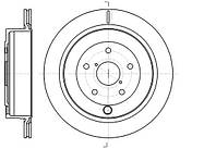 Диск тормозной SUBARU TRIBECA 3.6 24V 08-,B9 TRIBECA 3.0 24V 05-08 D=301.6MM задн.  (пр-во REMSA) 61042.10