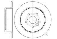 Диск тормозной TOYOTA RAV 4 II 6/00-2/06  задн. (пр-во REMSA) 61089.00