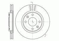 Диск тормозной CITROEN C3, C4, PEUGEOT 207 передн., вент. (пр-во REMSA) 6603.10