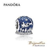 Pandora Шарм РОЖДЕСТВЕНСКАЯ НОЧЬ #796386EN63 серебро 925 Пандора оригинал