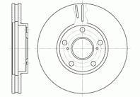 Диск тормозной LEXUS, TOYOTA передн., вент. (пр-во REMSA) 6842.10