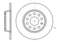 Диск тормозной SKODA OCTAVIA 08-,SUPERB 08-;VW CADDY 2010-;SEAT LEON 05- задн. (пр-во REMSA) 61340.00