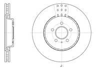 Диск тормозной AUDI A4 1.8 2.0 07-,A5 2.0-3.0 09-,A6 2010- передн. (пр-во REMSA) 61493.10