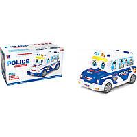 Муз. разв. игрушка BT-2217E полицейская машина-каталка,2 цвета, батар., муз, в коробке