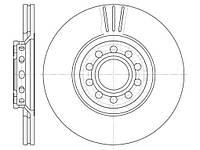 Диск тормозной AUDI A4,A6, SKODA SUPERB, VW PASSAT, вент. (пр-во REMSA) 6596.10