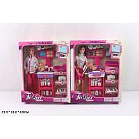 "Кукла типа ""Барби""Доктор"" JX100-23 2 вида, с мебелью,ребенком, аксесс"