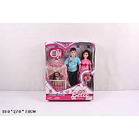 "Кукла типа ""Барби""Семья"" JX600-97 беремен.с Кеном, мал.куколкой, аксесс., 4 вида"