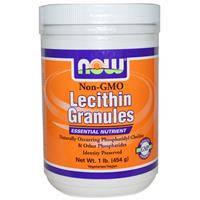 Лецитин в гранулах, Now Foods, без ГМО, 454 г