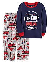 Пижама хлопок+флис Carters 'Пожарник' 2-3 года