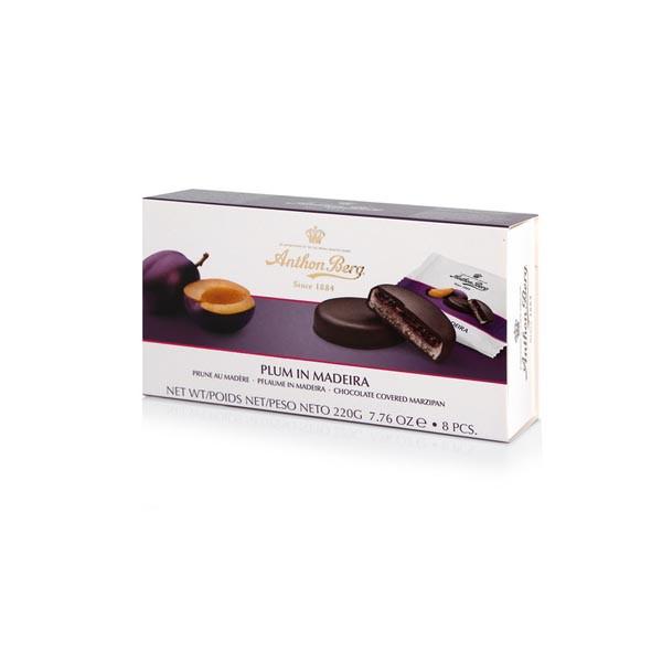 Марципан в шоколаді Anthon Berg сливовий джем з вином Мадера Plum in Madeira, 220 г