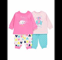 Пижама детская для девочки George 'Слоник' 9-12 мес