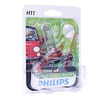 Лампа накаливания H11 12V 55W PGJ19-2 LongerLife Ecovision 1шт blister (Производство Philips) 12362LLECOB1