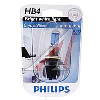 Лампа накаливания HB4 12V 55W P22d Cristal Vision 1шт blister 4300K (Производство Philips) 9006CVB1