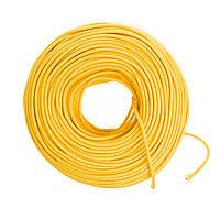 Провод тканевый немецкого производства желтый, фото 1