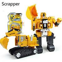 Трансформер экскаватор металлический игрушка для мальчика