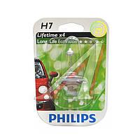 Лампа накаливания H7 12V 55W PX26d LongerLife Ecovision 1шт blister (Производство Philips) 12972LLECOB1