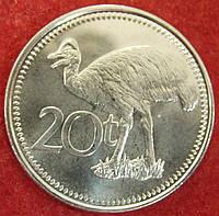 Монета Папуа - Новой Гвинеи 20 тоа 2005 г.