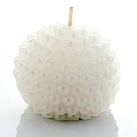 Свеча белая в форме шара