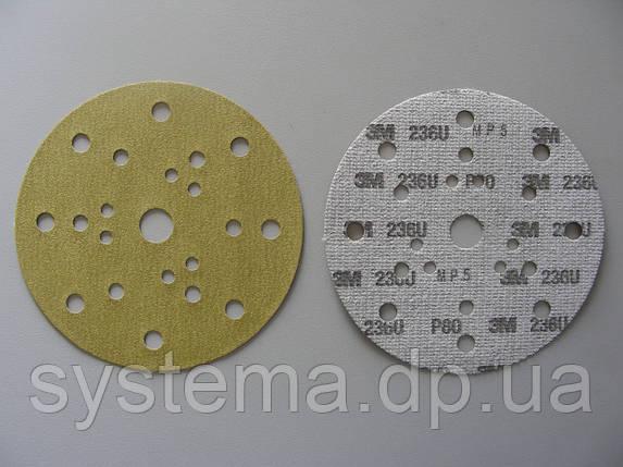 Абразивный диск 3M 236U Hookit™ (оксид алюминия) 21 отв., P180, 150 мм, фото 2