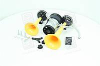 Сигнал дудка с компрессором 2шт желтый 165/215мм 12V  SL-A1014Y