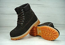 Зимние ботинки Timberland Brown Nubuck, мужские ботинки с натуральным мехом,  фото 2 57d3108a3a1