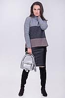 Стильный женский свитер оригинальной расцветки