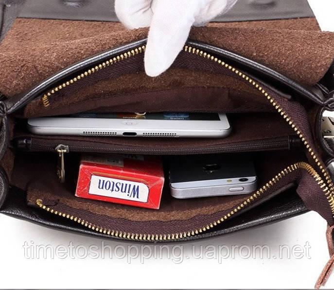 Стильная мужская сумка POLO. Черная.   продажа f2db5218ac9e6
