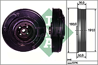 Ременной шкив вала коленчатого AUDI, VW (производитель Ina) 544 0002 10