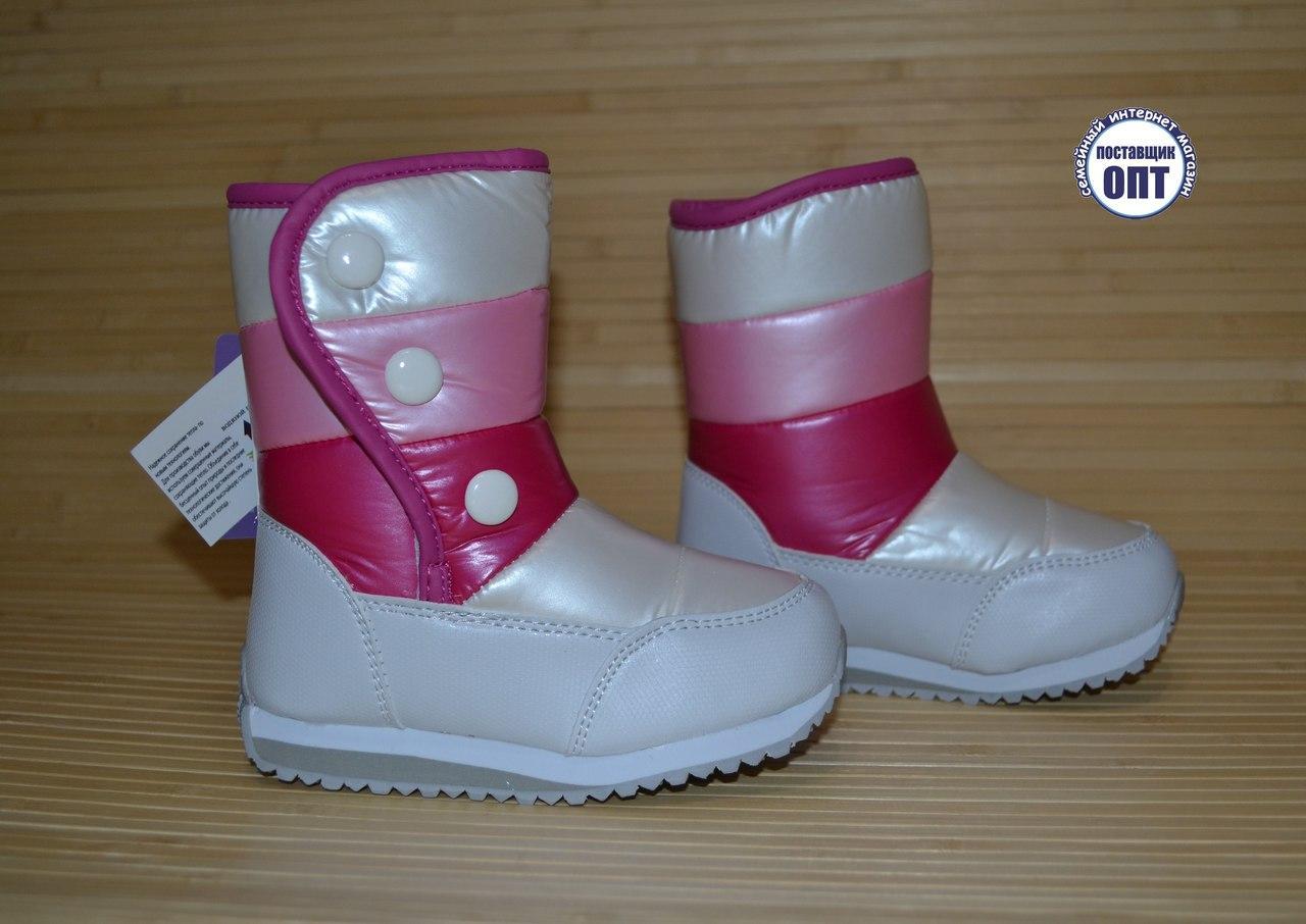 Зимние термо - сапожки дутики Tom.m для девочки размеры 27 - 32