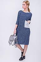 Однотонное вязаное платье отличного качества
