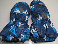 Детские непромокаемые варежки на меху, Краги (Цвет синие сноуборд)