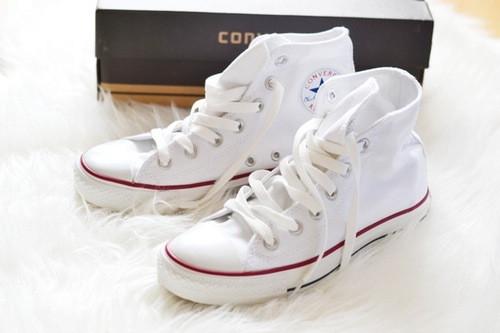Кеды женские Converse All Star - Белые (Реплика ААА+)