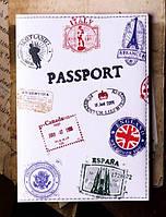 "Обложка на паспорт ""Штампы"" 30"