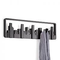Вешалка Skyline Umbra (черная) для одежды настенная
