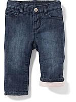 Детские утеплённые джинсы на флисовой подкладке Old Navy для девочки