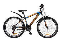 "Велосипед 26"" Discovery Trek AM 14G Vbr 15"" черно-оранжево-синий 2018"