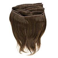 Натуральные неокрашенные славянские волосы на трессе 30 см