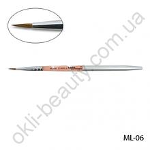 Кисть Lady Victory ML-06 - № 2 для моделирования акрилом натуральная