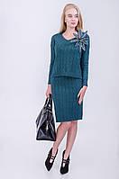 Красивый женский комплект: джемпер+платье