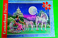 """Пазлы Castorland 120 элементов  """"Принцесса и единорог  """" A-12022-J"""