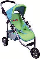 Трехколесная коляска для кукол девочкам в возрасте от 2 лет (размер 65 x 32 x 50 см) ТМ Bino Салатовый 82905