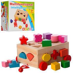 Деревянная игрушка Сортер MD 0956 Каталка