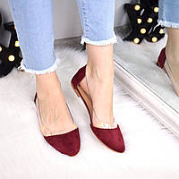 Балетки женские Vendy бордо замша 3351, обувь женская